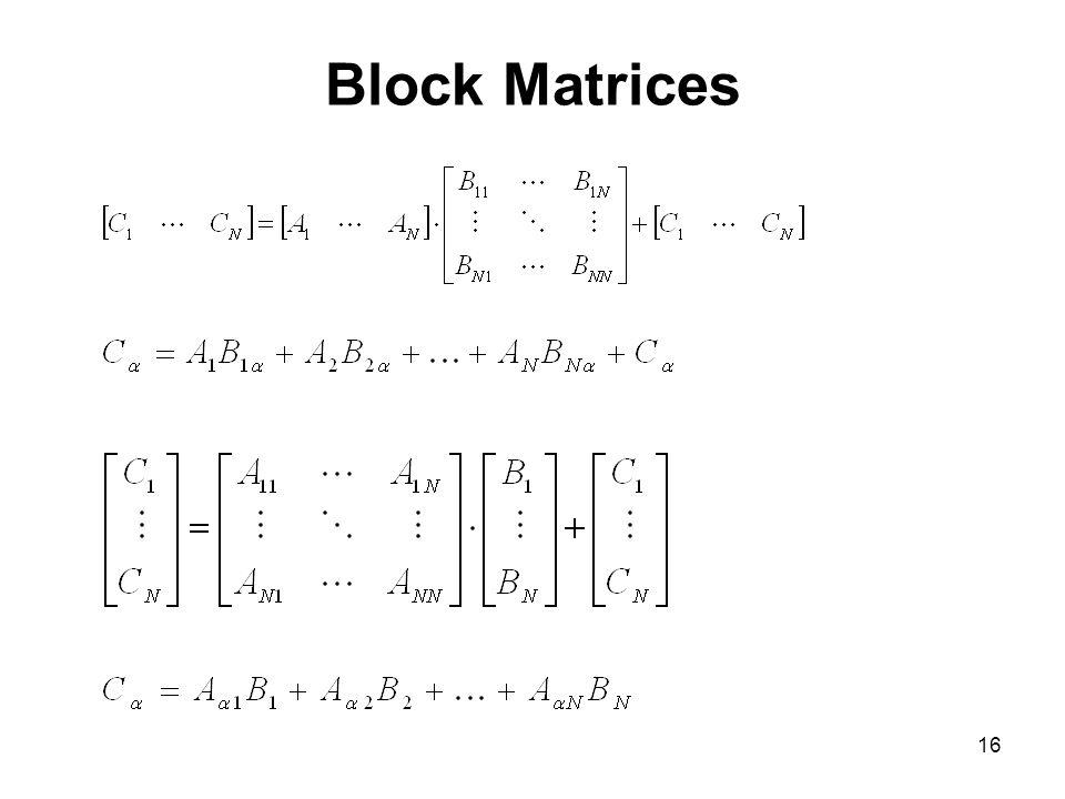 Block Matrices
