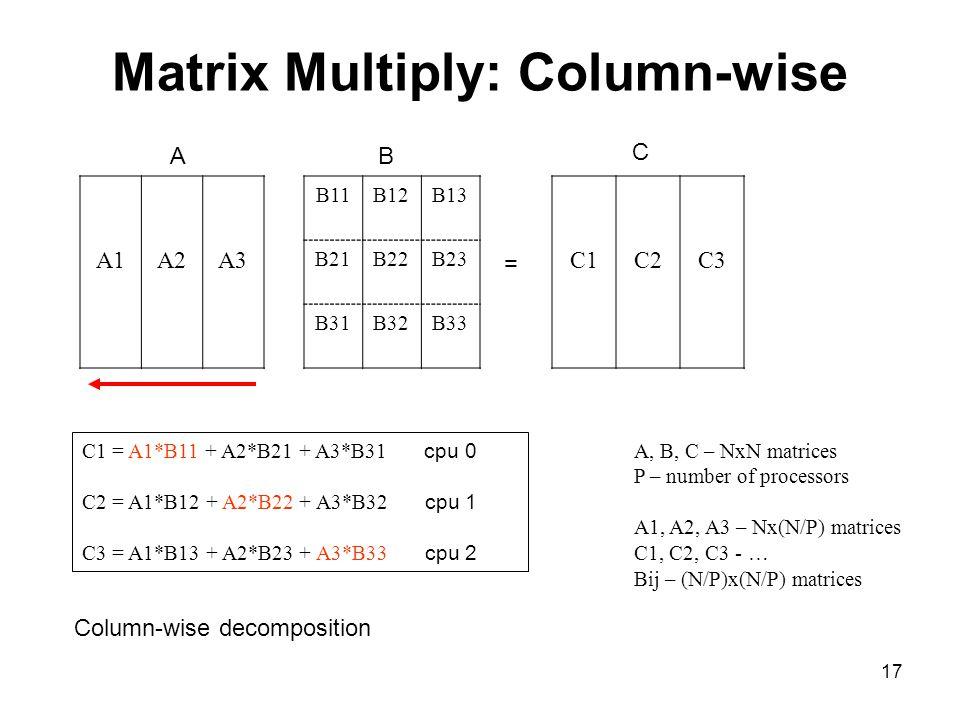 Matrix Multiply: Column-wise