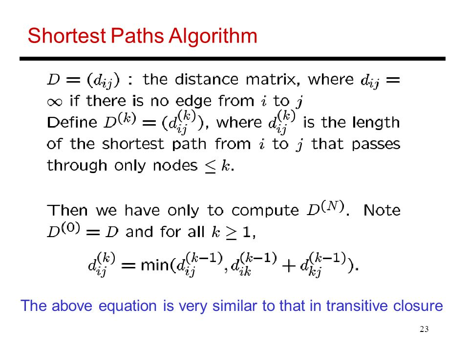 Shortest Paths Algorithm