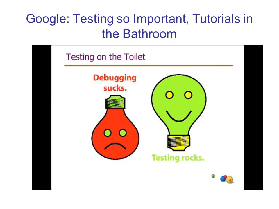 Google: Testing so Important, Tutorials in the Bathroom