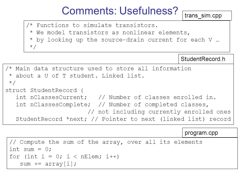 Comments: Usefulness trans_sim.cpp
