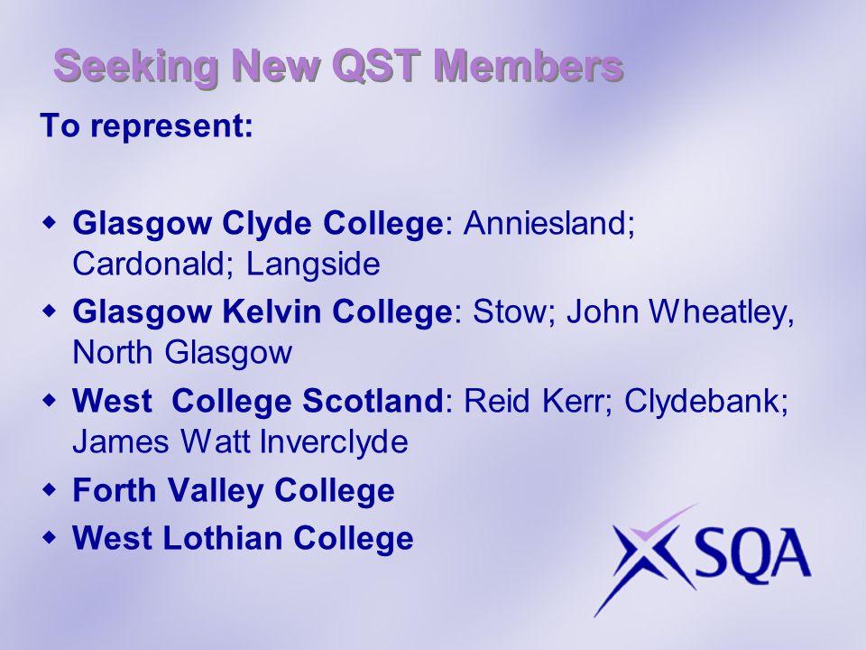 Seeking New QST Members