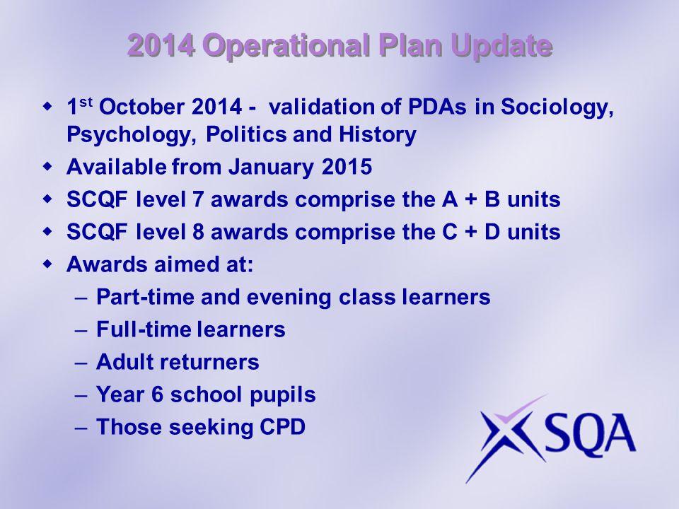 2014 Operational Plan Update