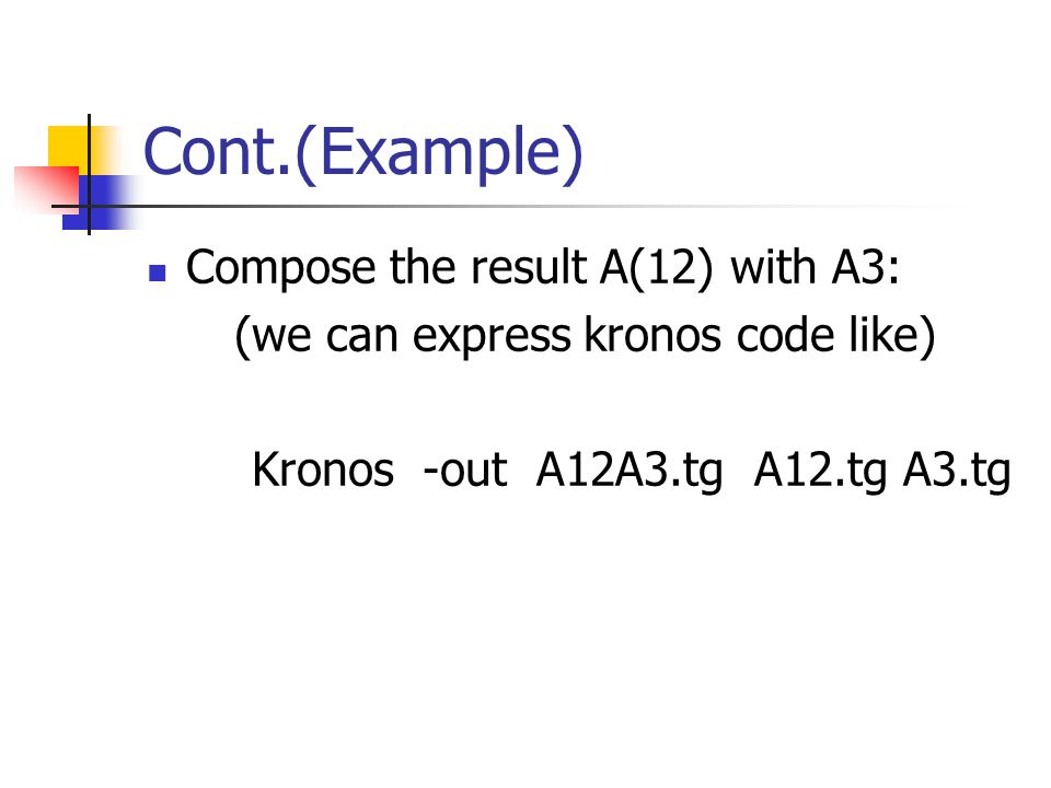 Cont.(Example) Compose the result A(12) with A3: