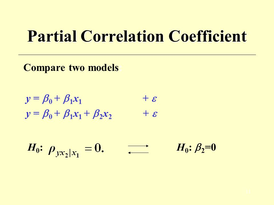 Partial Correlation Coefficient