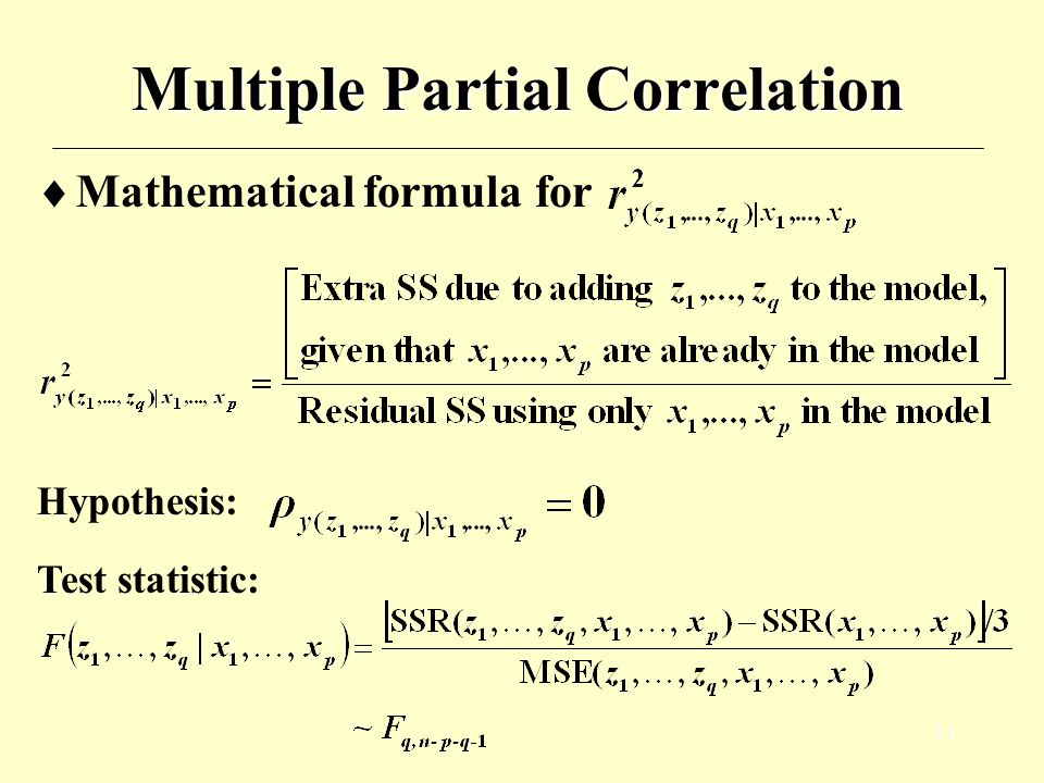 Multiple Partial Correlation