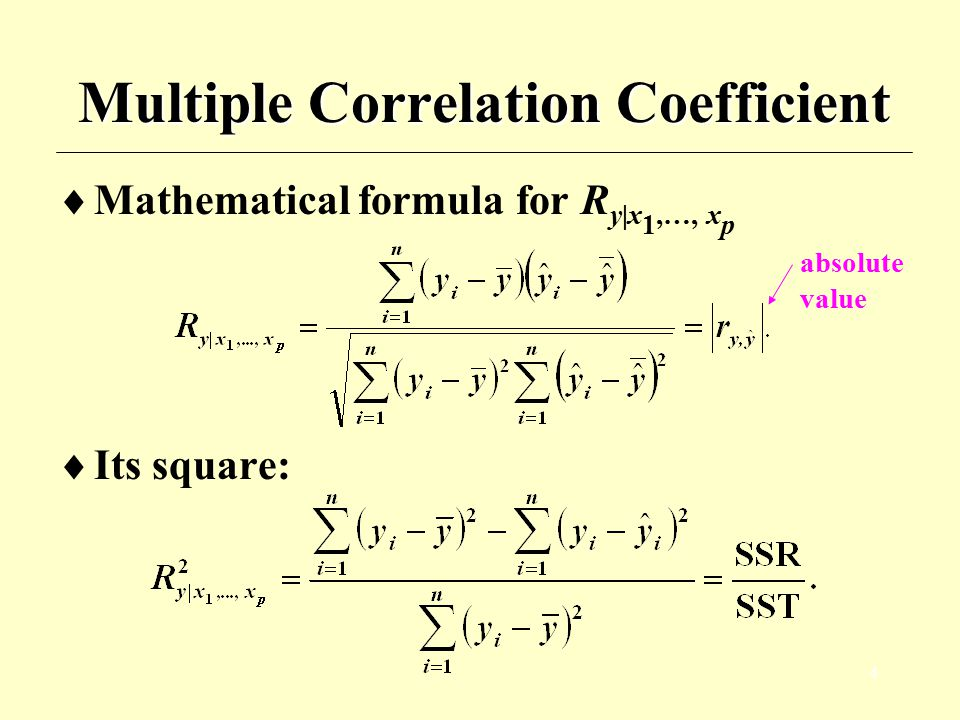 Multiple Correlation Coefficient