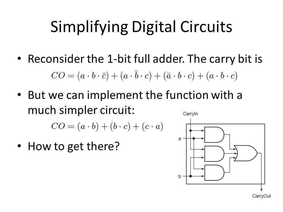 Simplifying Digital Circuits