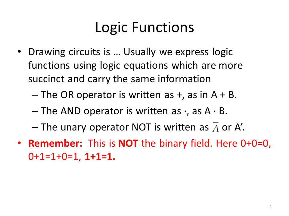 4/11/2017 Logic Functions.