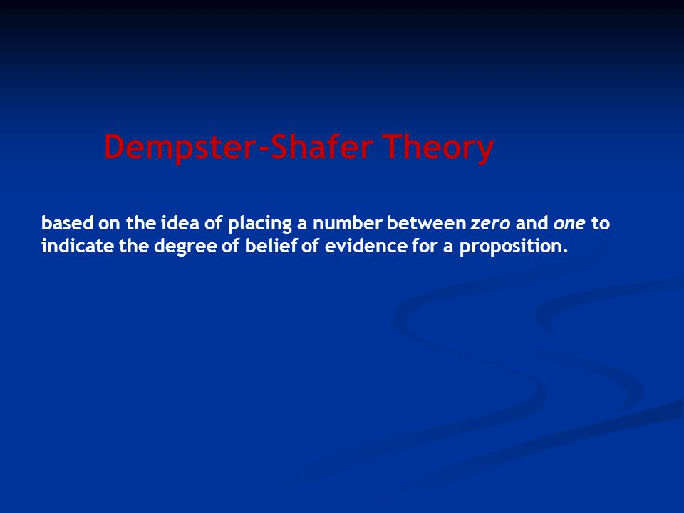 Dempster-Shafer Theory