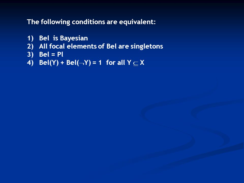 The following conditions are equivalent: