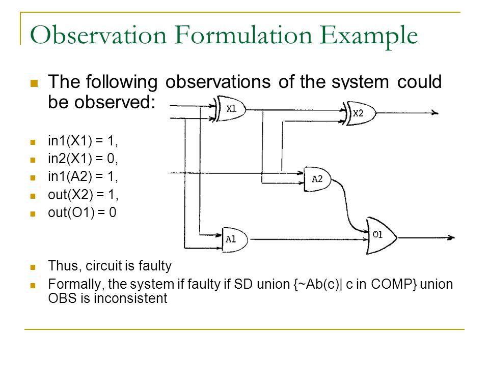 Observation Formulation Example