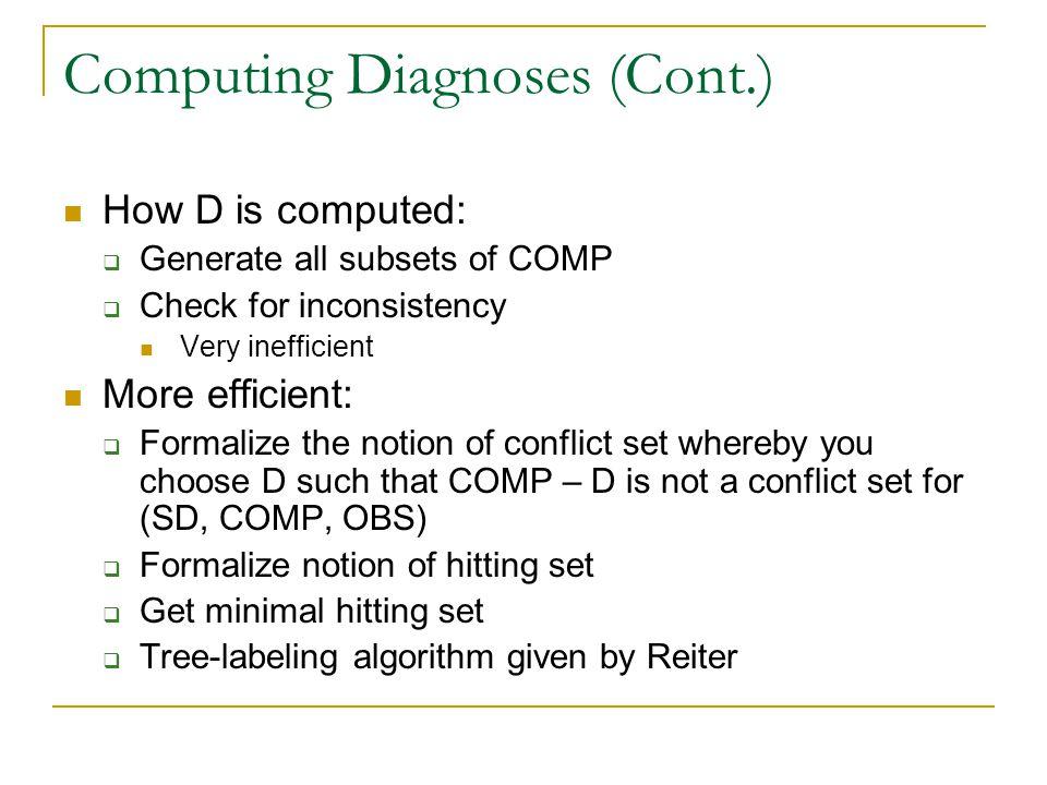 Computing Diagnoses (Cont.)