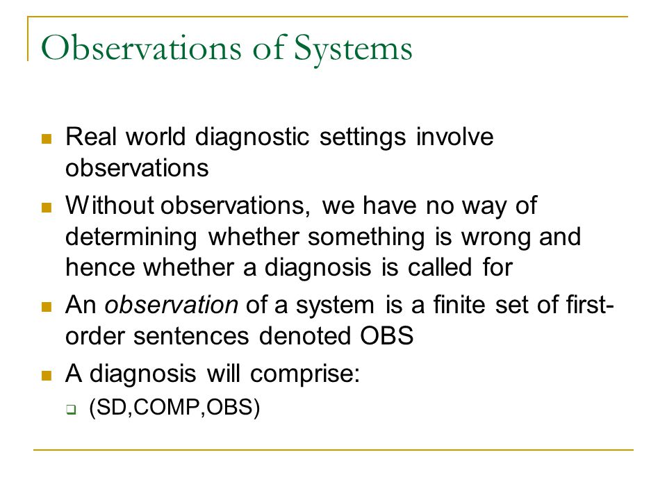 Observations of Systems