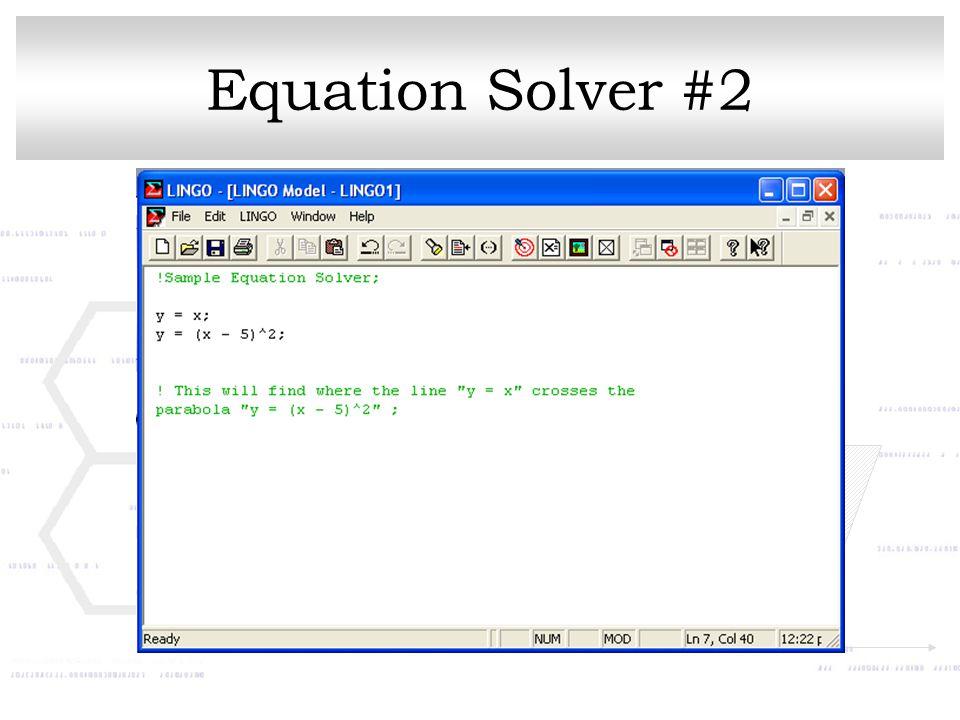 Equation Solver #2