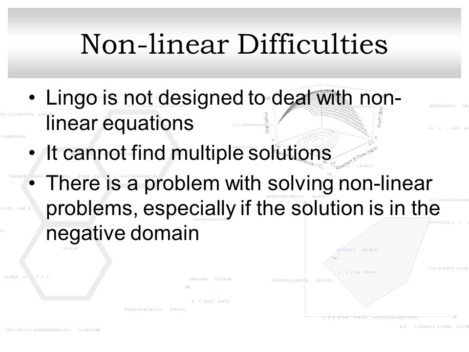 Non-linear Difficulties