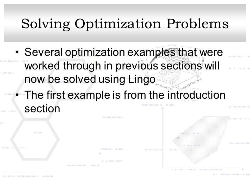 Solving Optimization Problems