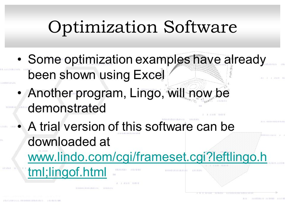 Optimization Software