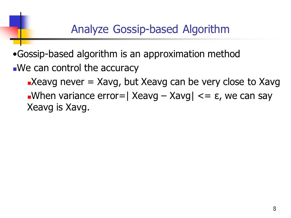 Analyze Gossip-based Algorithm