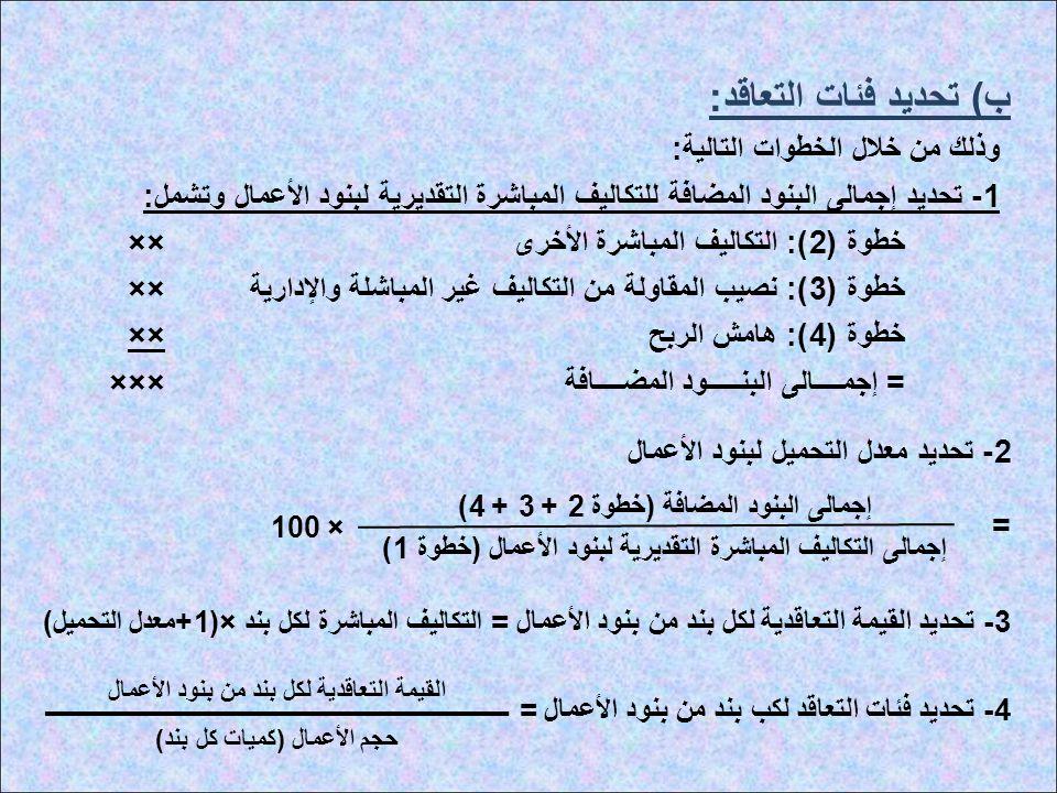 ب) تحديد فئات التعاقد: وذلك من خلال الخطوات التالية: