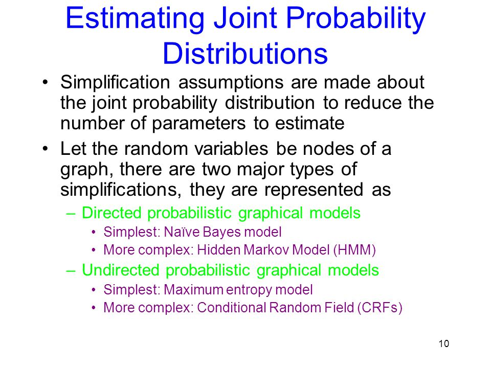 Estimating Joint Probability Distributions