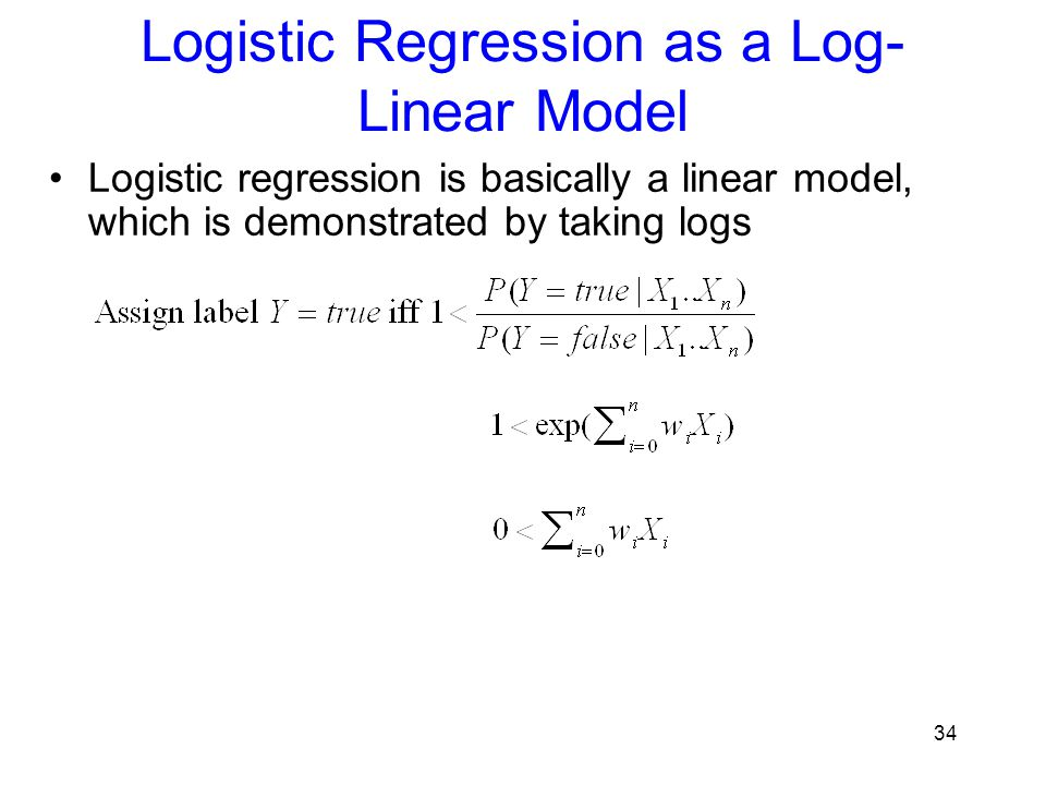Logistic Regression as a Log-Linear Model