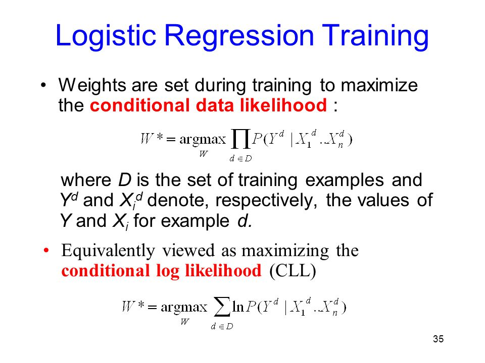 Logistic Regression Training