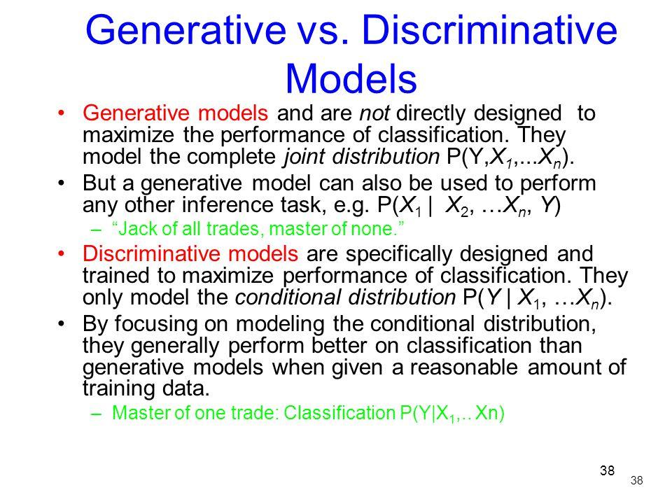 Generative vs. Discriminative Models
