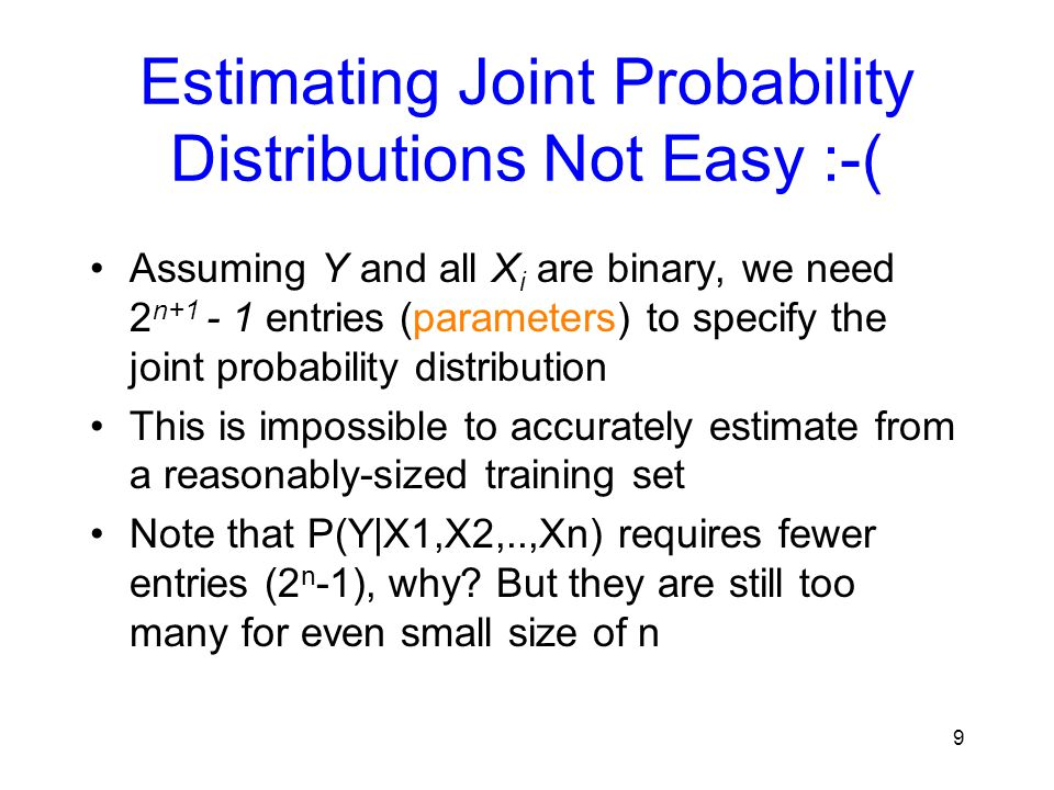 Estimating Joint Probability Distributions Not Easy :-(