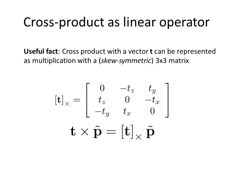 Cross-product as linear operator