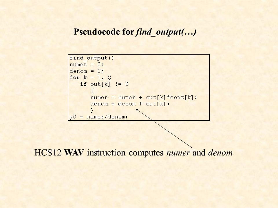 Pseudocode for find_output(…)