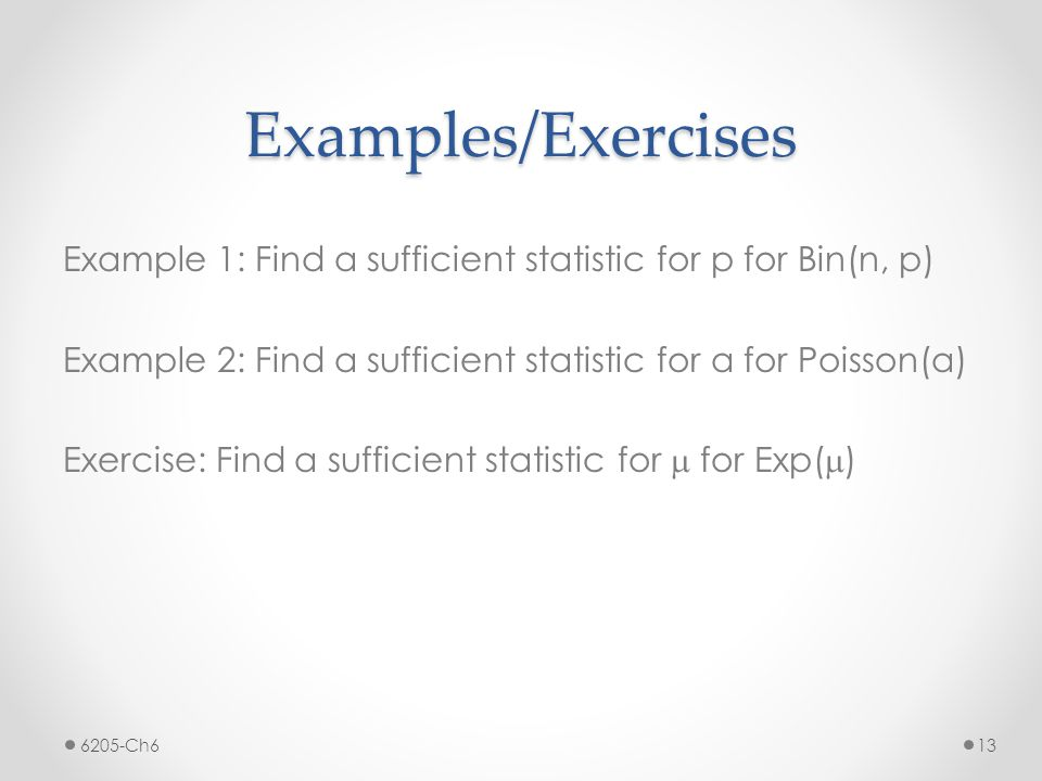Examples/Exercises