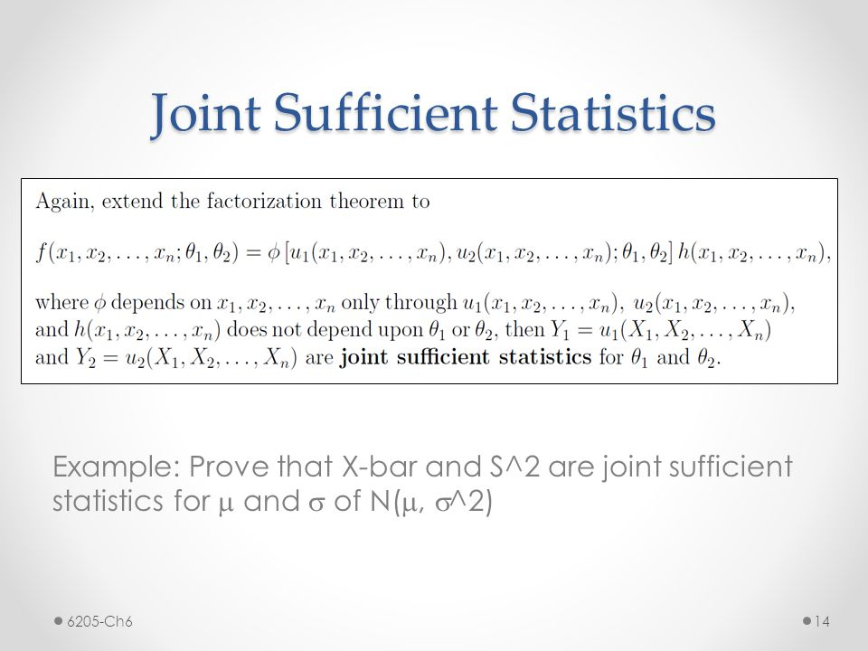 Joint Sufficient Statistics