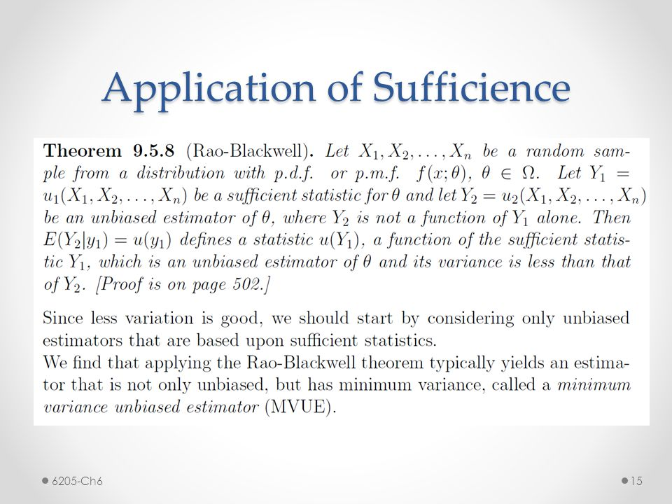 Application of Sufficience