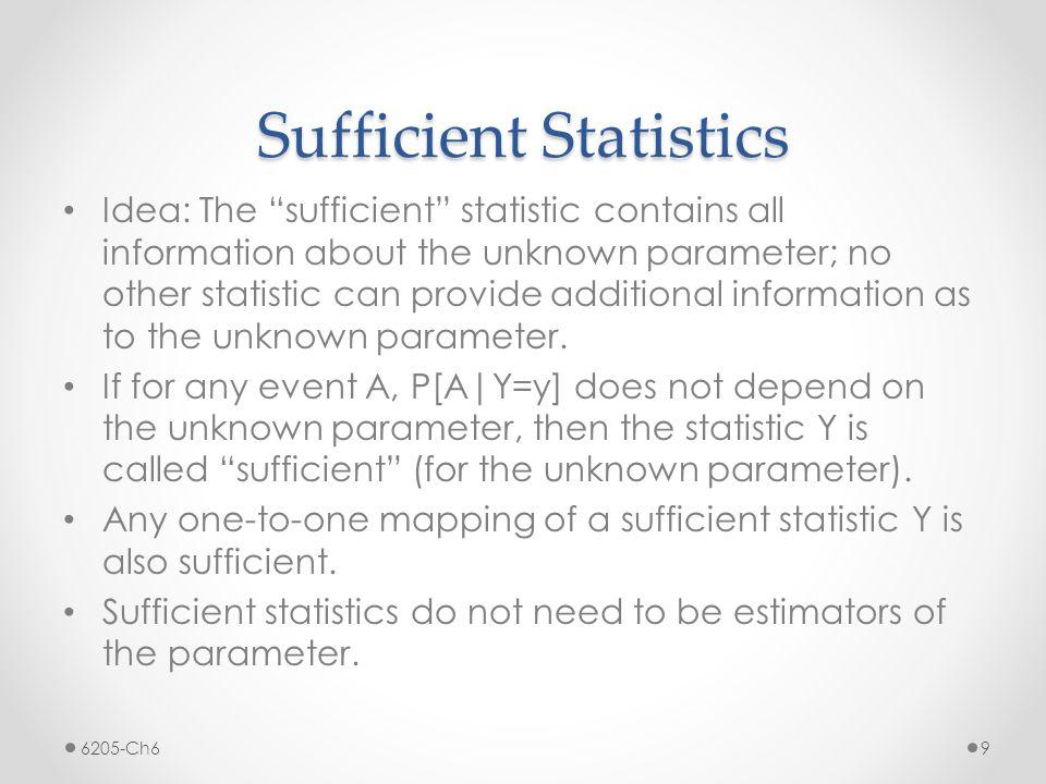 Sufficient Statistics