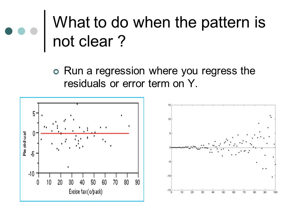 What to do when the pattern is not clear