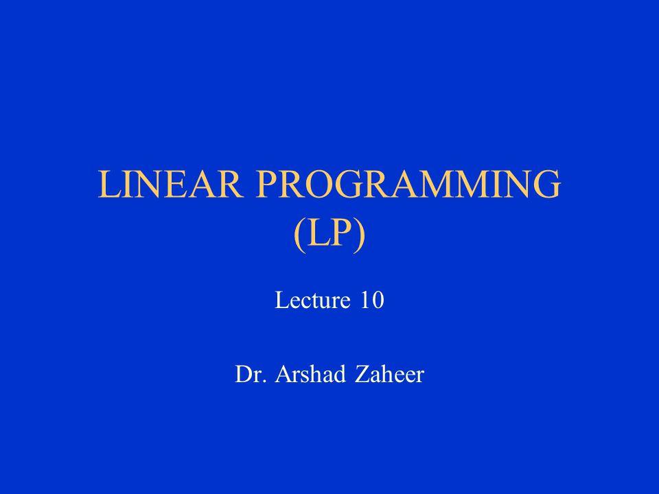 LINEAR PROGRAMMING (LP)