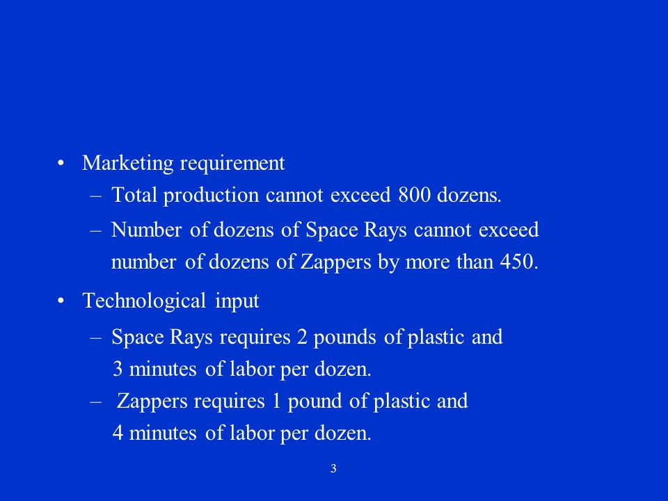 Marketing requirement