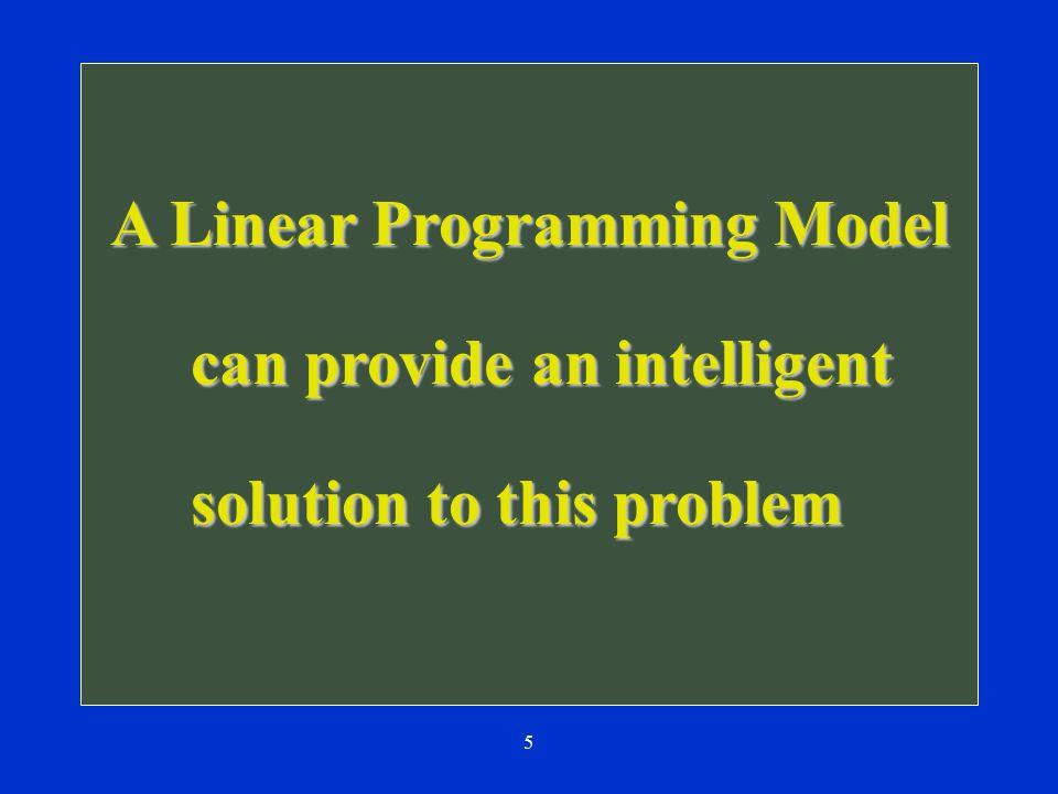 A Linear Programming Model