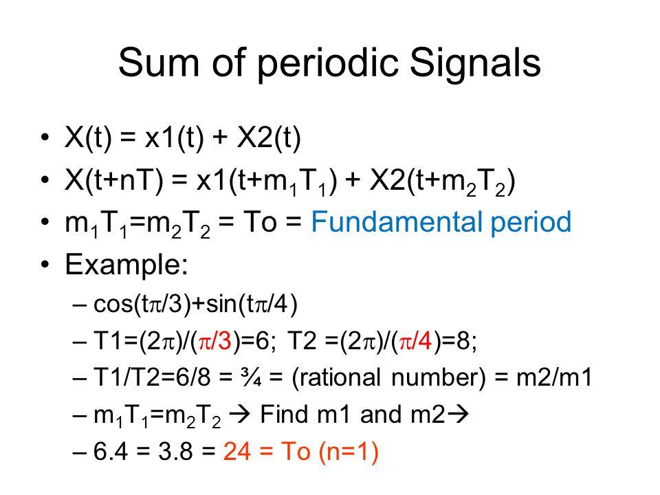 Sum of periodic Signals