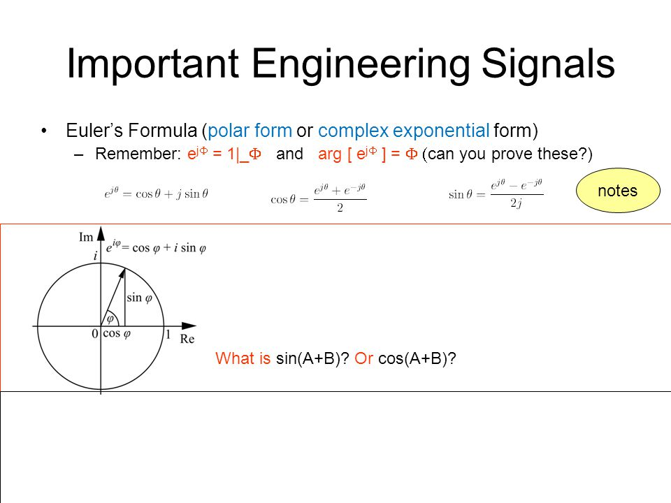Important Engineering Signals