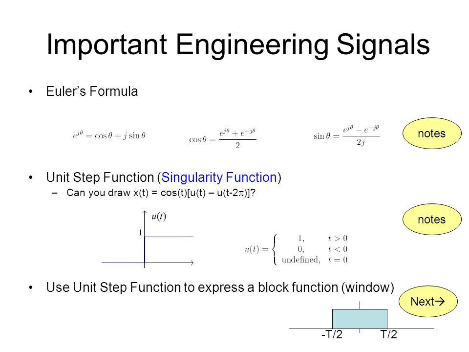 Important Engineering Signals