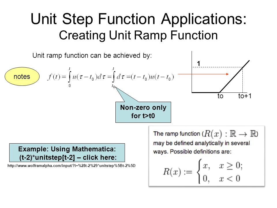 Unit Step Function Applications: Creating Unit Ramp Function