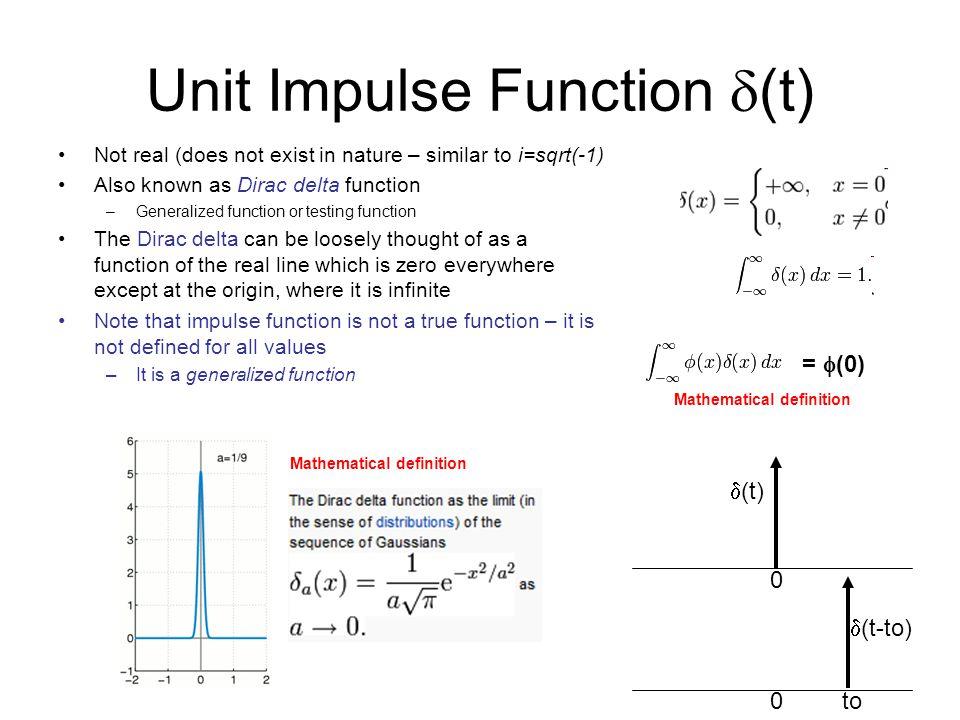 Unit Impulse Function d(t)