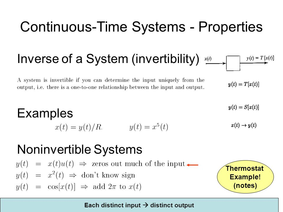 Continuous-Time Systems - Properties