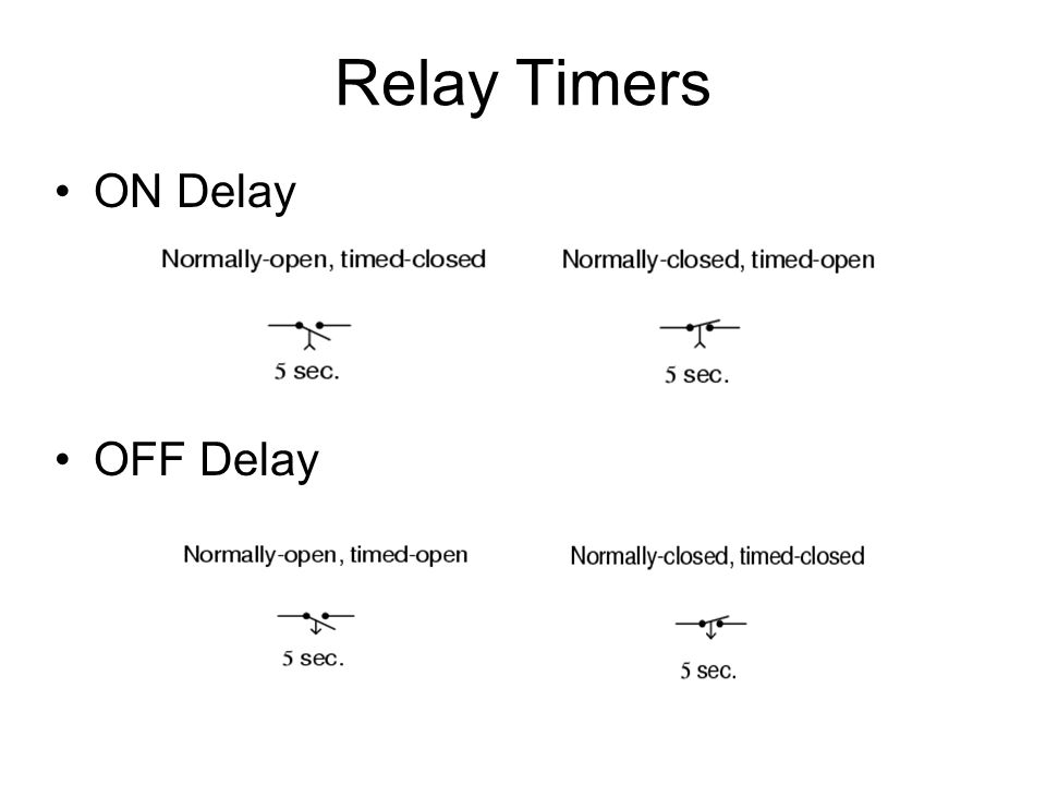 Relay Timers ON Delay OFF Delay