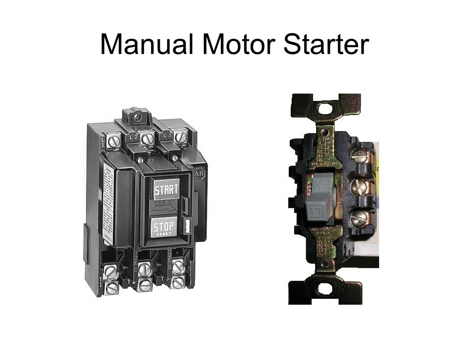 Contactors relays ppt video online download for Manual motor starter with overload protection