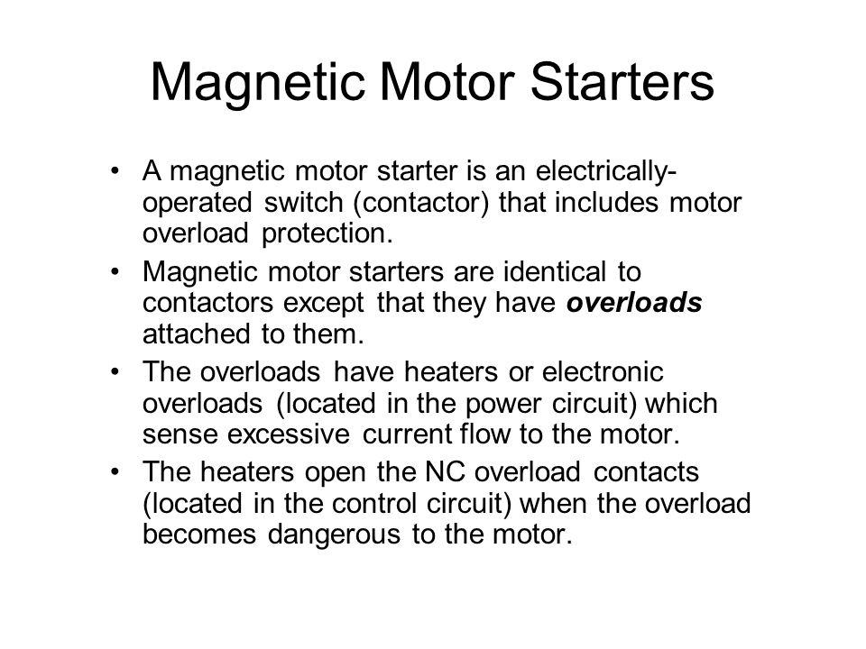 Magnetic Motor Starters
