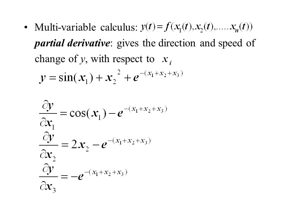 Multi-variable calculus: