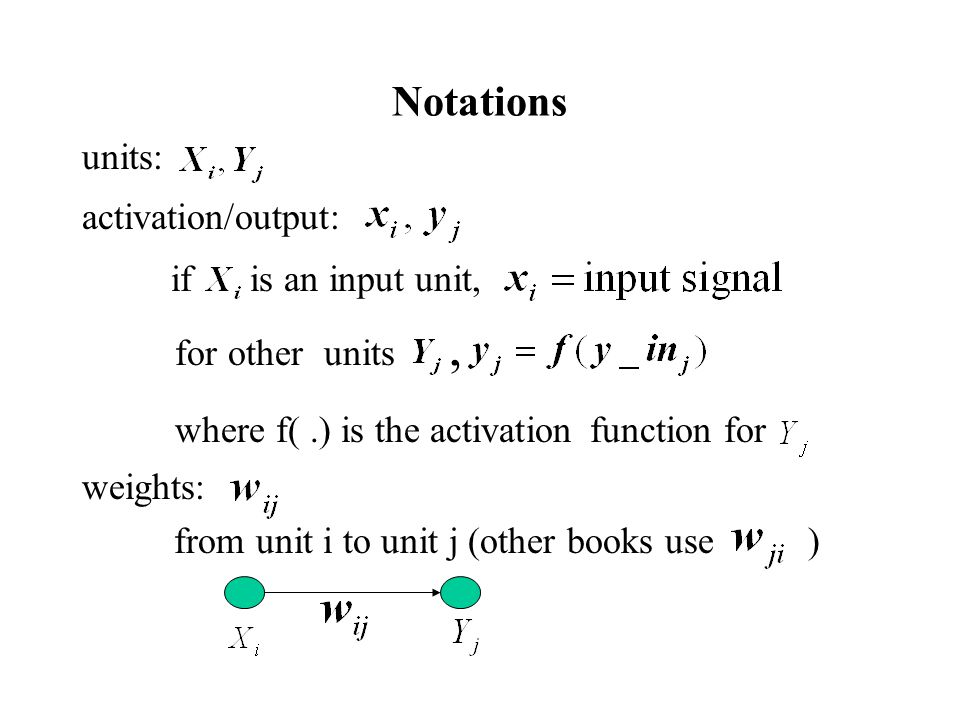 where f( .) is the activation function for